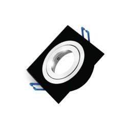 Carcasă neagră, pătrată ptr. GU5.3 SPOTTI-S