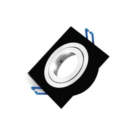 Carcasă neagră, rotundă ptr. GU5.3 SPOTTI-S