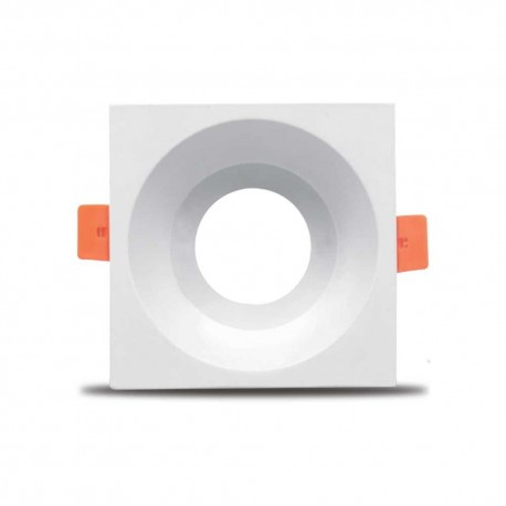 Carcasă albă, patrata ptr. GU5.3 TETRA-C