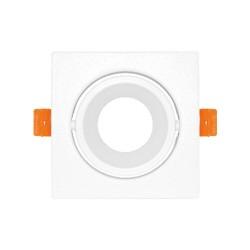 Carcasă albă, rotunda ptr. GU5.3 TETRA-H