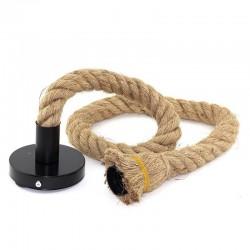 Pendul Rope Cojom  acoperit cu franghie rasucita din iuta cu dulie E27