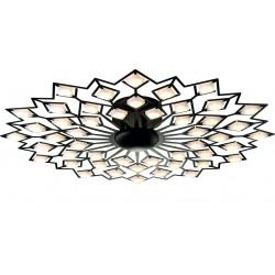 Candelabru  led, Valentina aplicat pe tavan de culoare neagra 48w, diametru 760mm