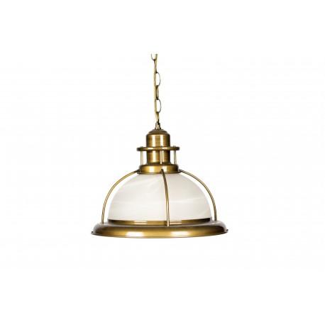 Pendul  Cojom, Glass 1,prindere lant, abajur sticla sablata, metal, E27, inox saten