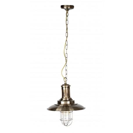 Pendul  Cojom, Tempo 2 ,cu gratar,prindere lant, abajur sticla transparenta,metal, E27, bronz antic