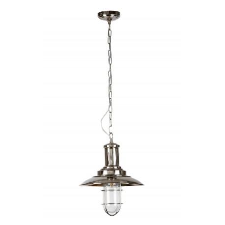 Pendul  Cojom, Tempo 1 ,cu gratar,prinder lant, abajur sticla transparenta,metal, E27, inox saten