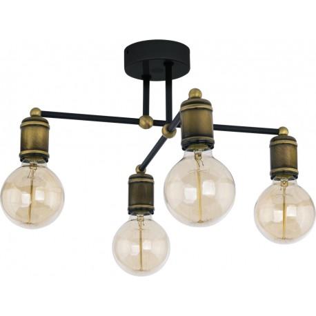 Lustra Cojom  Tavi 4, metal, 4x E27, stil industrial, retro