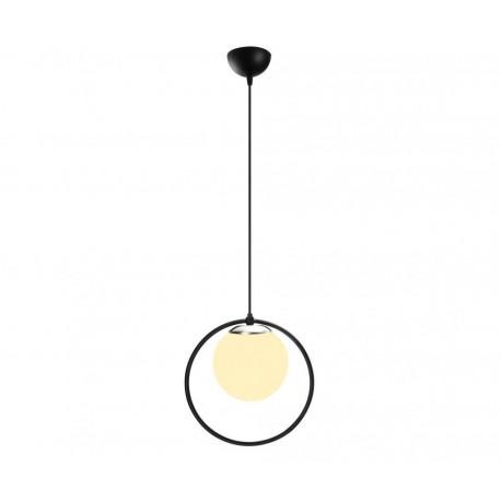 Pendul Cojom Cerc, geometric, 1xE27, abajur sticla sferic