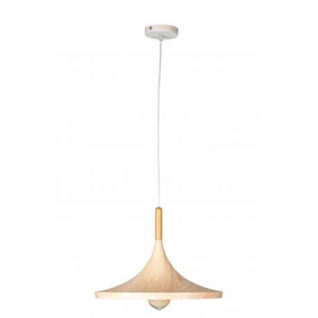 Pendul  Mara, metal, E27, 60W, imitatie lemn natur cu alb