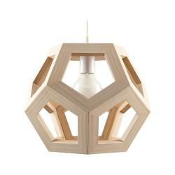 Pendul Cojom  geometric, lemn masiv din fag, 1xE27, natur