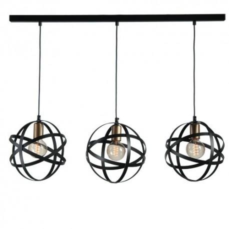 Lustra Cojom, Trisfera 3x60W, E27, 220V, metal, culoare neagra