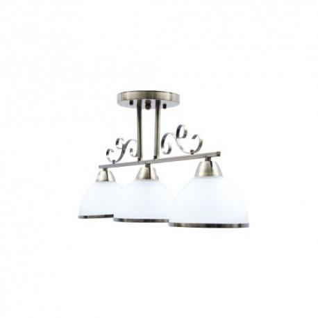 Lustra Iron 3XE27,bronze+alb