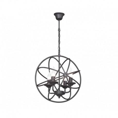 Pendul Cojom Round 4 ,rustic-vintage, 4xE27, metal negru