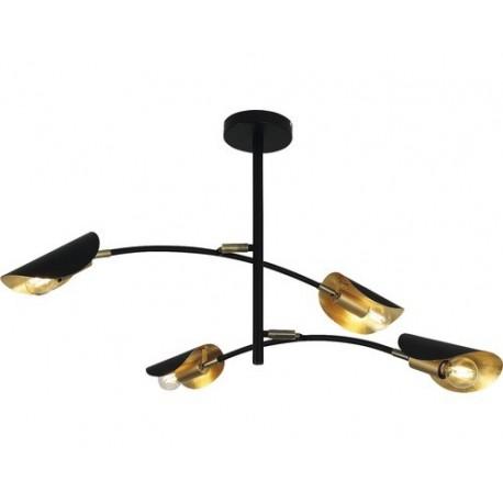 Lustra Brise 4 E27 max. 4x40W, negru/auriu