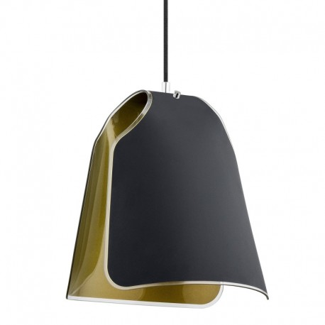 Pendul Fornia KL 6844, 1 x E27, negru auriu