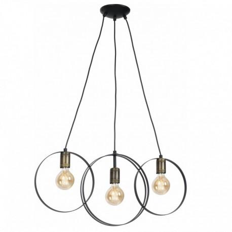 Lustra Olimpia KL 113002, 3 x E27, negru + bronz