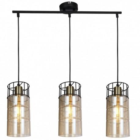 Lustra  suspendata Ideal KL113010, 3 x E27, negru / bronz + fumuriu