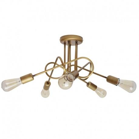 Lustra Cojom Intor ,E27, 5 becuri, E27, Metal, auriu
