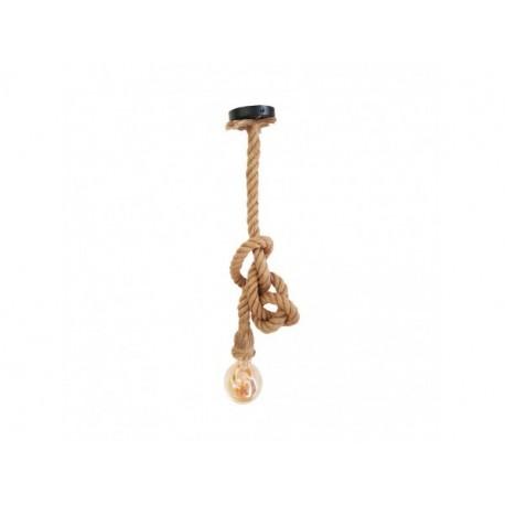Pendul Rope Cojom cu bec  acoperit cu franghie rasucita din iuta cu dulie E27
