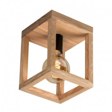 Plafoniera lemn fag Cojom Leno, 1xE27, natur