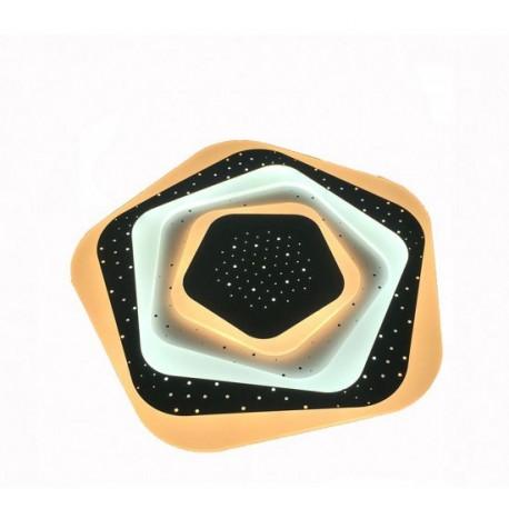Plafoniera led Fiori, 3D, 102w, 530mm diametru, 6350 lm, lumina neutra si calda, cu telecomanda
