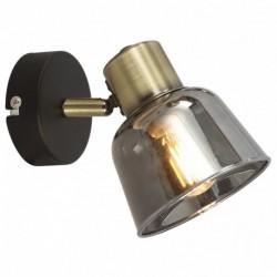 Aplica Smoky KL161005, 1 x E14, negru + alama antica + fumuriu