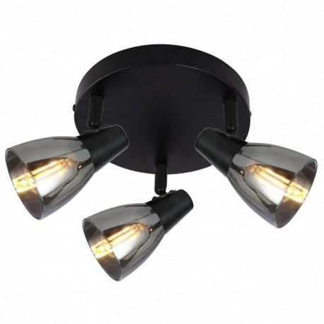 Plafoniera Parry pl3 KL163002, 3 x E14, negru + fumuriu