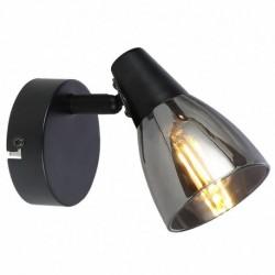 Aplica Parry KL161003, 1 x E14, negru + fumuriu