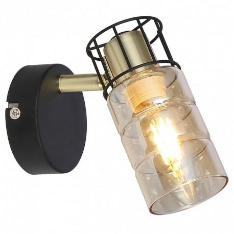 Aplica Ideal KL161000, 1 x E14, negru / bronz + fumuriu