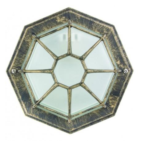 Corp de iluminat pentru tavan Kanto, din aluminiu si sticla, ip44,vintage diametru 267mm