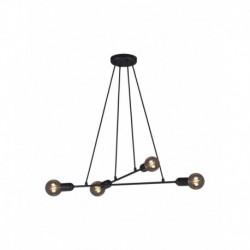 Lustra Cojom Kendo 4n, metal, 4x E27, stil industrial, negru