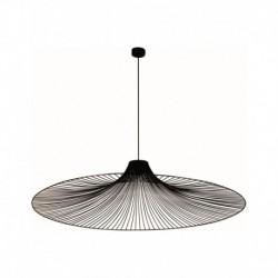Pendul Cojom Noli 1n din metal de culoare neagra cu dulie E27, diametru 120 cm
