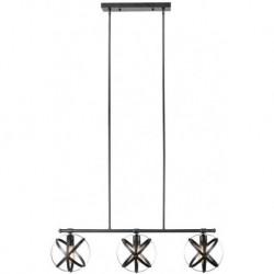 Candelabru Cojom Prato 3n 3XE27, neagra, inaltime reglabila, stil modern industrial