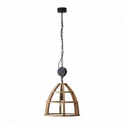 Pendul Cojom Clop 1n din lemn masiv, 1 bec cu dulie E27, natur cu negru