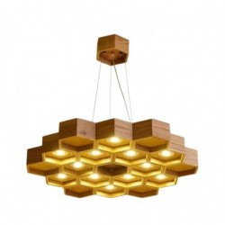 Candelabru Cojom Bee Hive 12, modern/clasic, 12xGu10, lemn natur,120 cm diametru