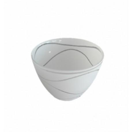 Abajur sticla SUYOLU alb cu linii