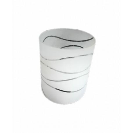 Abajur sticla cilindru mediu cu linii