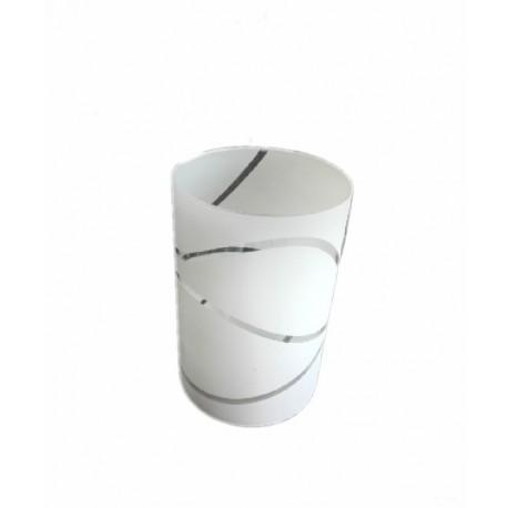 Abajur sticla cilindru cu linii